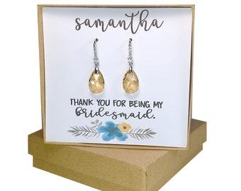 Jewelry, Bridesmaid gifts, Wedding Jewelry, Christmas Gift, Earrings, Bridal Shower gift, Swarovski Elements, Bridal earrings.