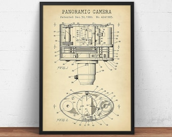 Old camera blueprint etsy panoramic camera patent art digital download camera patent prints 1980 blueprint art malvernweather Gallery