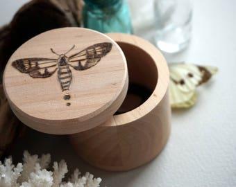 Pyrography box, wooden box, pyrography fox