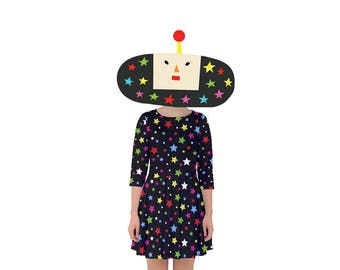 Dipp Dress - Katamari Dress Katamari Cousins Dress Cosplay Dress Katamari Damacy Smock Dress Plus Size Dress Video Game Dress Ichigo Dipp