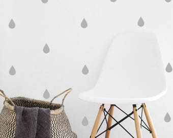 Raindrop Wall Decal - Set of 30 - Wall Sticker - Nursery Kids Decal Pattern | PP117