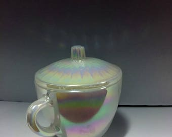 Vintage Federal Glass Sugar Bowl