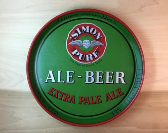 Antique Simon Pure Ale Beer Tray