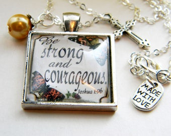 Scripture Pendant Necklace Christian Gift Jewelry