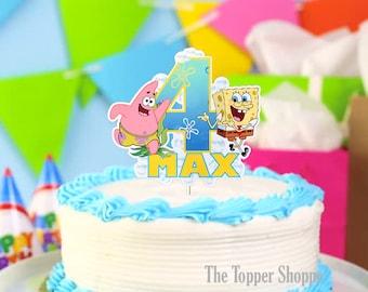 SPONGEBOB SQUAREPANTS Customized Cake Topper / Centerpiece / Birthday Party Supplies / Decorations