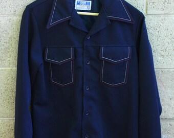 Navy Blue Disco Jacket
