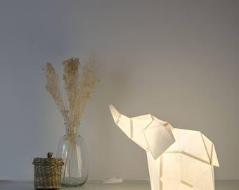 Baby Elephant - DIY Paperlamp ( pre-cut papercraft kit, DIY paper lamp )