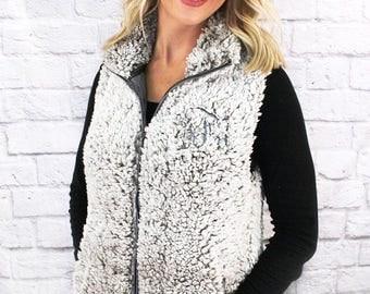 Frosty Fleece Full Zip Sherpa Vest
