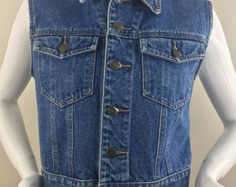 Vintage Rafaella Denim Vest/Size Medium