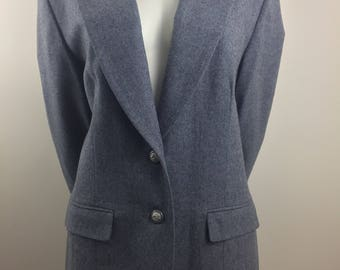 Vintage Pendleton 100% Virgin Wool Gray Blazer/Size 18