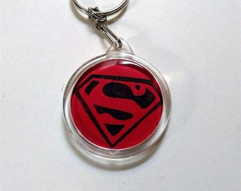 Keychain, superman logo.