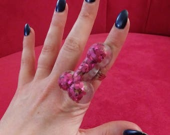 Penis Ring!   Resin & Chunky Pink Glitter with adjustable band. One size fits all. Valentine's Day!