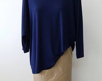 Navy Blue Loose Fit Top