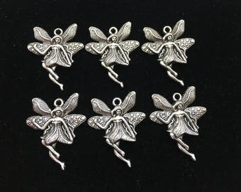 Angle Charm For First Comunion Charm, Baby Shower Charm, Baptism Charm,  Pewter Alloy Silver Metal, PC-ANG-046