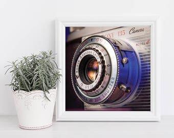 Vintage Camera Photo, Kodak Print, Gifts for Graphic Designers, Gifts for Photographers, Kodak Pony 135 Camera, Vintage Camera Lens