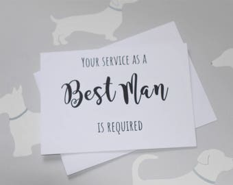 Will you be my Best Man card, Best Man box, Wedding party card, Bridal party invitation, Wedding party, Best Man proposal, Will you be my