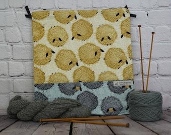 Sheep bag,  Knitting project Bag, Crochet Bag, Yarn Bag, Shawl Knitting bag , Project Bag, Sock knitting bag