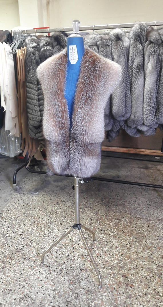 Crystal FROST FOX FUR stole