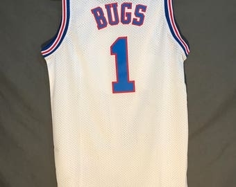 Bugs Bunny Space Jam TuneSquad Jersey Stitched #1  (Fast Shipping!)