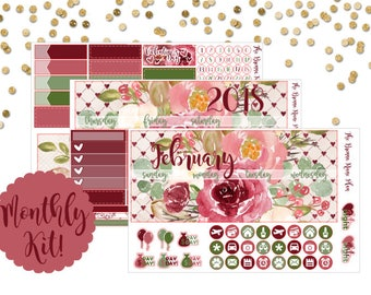 February 2018 | Monthly Kit | Planner Stickers