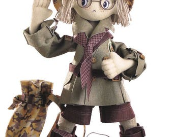 Doll Safary Boy Doll Sewing Kit Textile carcass doll with individual traits Kit Nova Sloboda