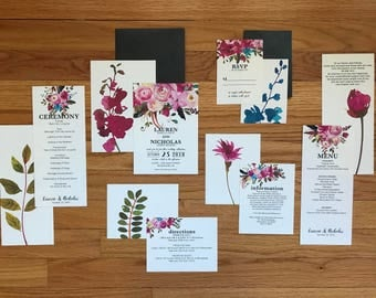 The Lauren Collection—Six-Piece Wedding Invitation Suite (Pack of 10)