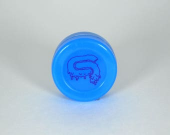 Number 9, Secctor Nine, Blue, 38mm Silicone DAB Container-food grade & FDA Approved Silicone 710