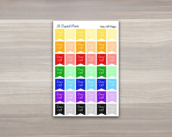 Day Off Planner Stickers || 42 Stickers