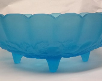 Vintage Indiana 4 Footed Fruit Bowl