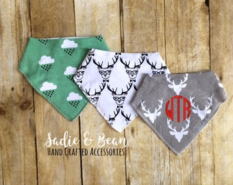 3 pack, Personalized Baby bib, monogrammed baby bib, bandana, Boy Bandana Bib, boy bib, baby bib, Bib, Drool bib, personalized baby bandana