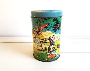 Dutch vintage tin 'Brinta' * vintage storage container * kitchen storage * vintage home decor * porridge tin