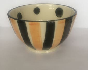 Orange and Black Bowl