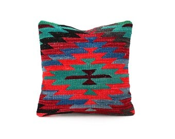 Kilim Pillow Cover - Vintage Decorative Throw Pillow Turkish Tribal Boho Pillows For Sofa Couch Pillow Cover Accent Cushion kilim pillow