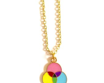 Pop of Color Gold Necklace