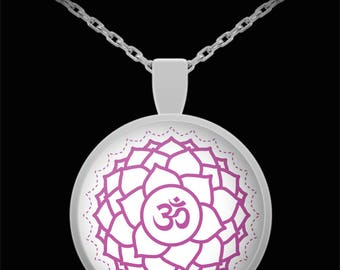 Violet 7th Chakra Necklace Yoga Jewelry Awareness Expanding Energy Gift Meditate Valentine Birthday Anniversary