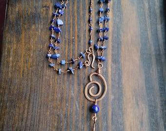 Copper & Lapis Necklace