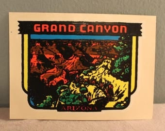 Vintage 1960's Grand Canyon Arizona Window Decal Sticker by Lingren-Turner, Co.