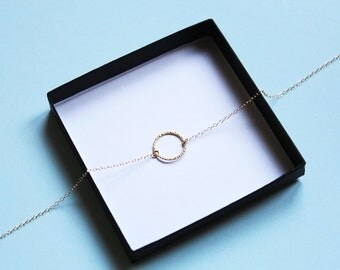 Gold Circle Necklace, Karma Necklace, Dainty Necklace, Ring Necklace, Simple Necklace, Minimal Necklace, Layered Necklace, Gold Necklace