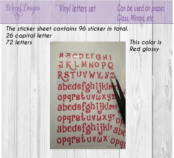 Funny letters Alphabet stickers vinyl letters letter Small abc