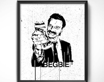 Trainspotting > Begbie 60x50 cm-Poster sheet HQ exclusive/exclusive poster High Quality Printing-Boyle Choose 90s Renton movie Cinema
