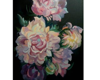 Picture on canvas Oil Paintings,Still life Painting picture Beautiful flowers Very realistic work