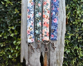 Rifle Paper Company floral lanyard | badge holder