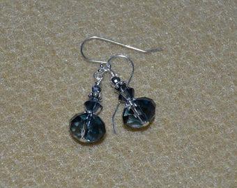 Swarovski Denim Blue Briolette Earrings
