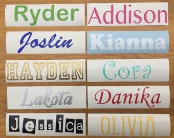 Vinyl Name Decal Etsy - Custom vinyl stickers australia   the advantages