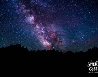 "Milky Way Over the Badlands- 24""x36"" metal photography print"