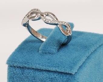 Poplar Silver İnfinity Ring
