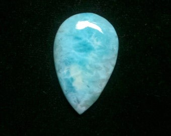 Larimar Pear Designer Cabochon, Natural Sky Blue Larimar, Smooth Cabochon, Loose Gemstone, Size- 36x22 MM, Weight- 36 Cts