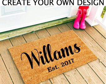 Valentines Day | Personalized Doormat | Custom Doormat | Custom Door Mat | Personalized Door Mat | Last Name Doormat | Doormat Personalized