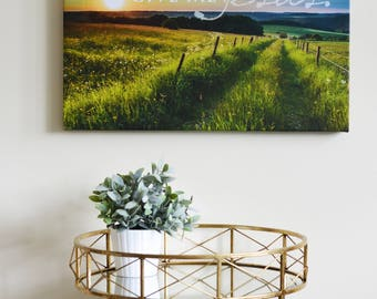 Christian Wall Art CAnvas-- In the morning when I rise, give me Jesus, faith based art, beautiful scene, meadow, Bible Verse, Scripture