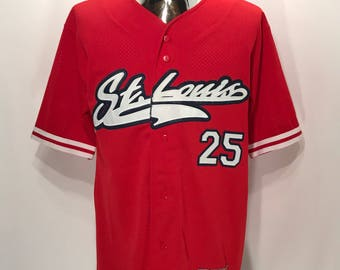 1997 MARK MCGWIRE St Louis Cardinals MLB Baseball Jersey.